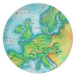Mapa de Europa occidental Plato Para Fiesta