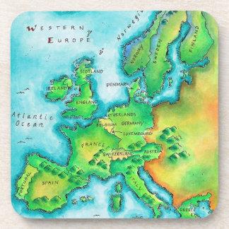Mapa de Europa occidental Posavasos De Bebida