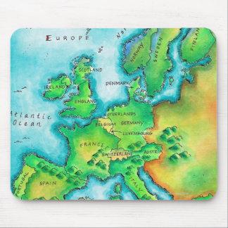 Mapa de Europa occidental Tapetes De Raton