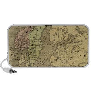 Mapa de Europa Olney iPod Altavoz
