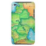 Mapa de Europa Oriental Cubierta Para iPod De Barely There