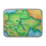 Mapa de Europa Oriental Fundas Para Macbook Air