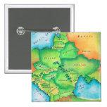 Mapa de Europa Oriental Pin Cuadrado