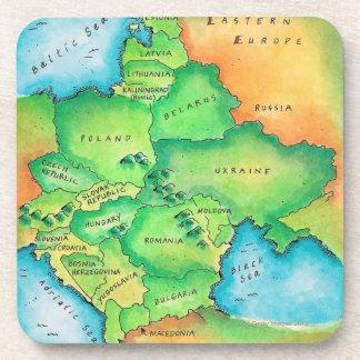 Mapa de Europa Oriental Posavasos
