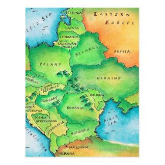 Mapa de Europa Oriental Postales