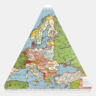 Mapa de Europa Pegatina Triangular