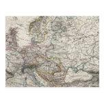 Mapa de Europa por Stieler Postal