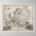 Mapa de Europa por Stieler Posters
