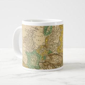 Mapa de Europa por Worcester Taza Grande
