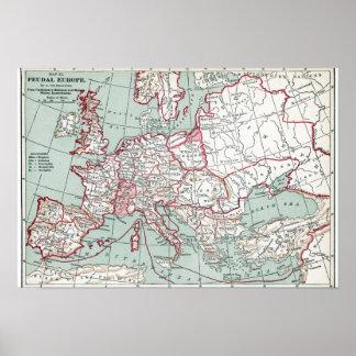 MAPA De EUROPA, siglo XII Póster