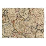 Mapa de Europa Tarjeta De Felicitación
