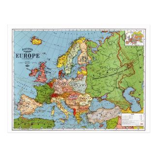 Mapa de Europa Tarjetas Postales