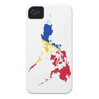 MAPA DE FILIPINAS iPhone 4 Case-Mate CÁRCASA