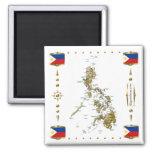 Mapa de Filipinas + Imán de las banderas