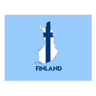 MAPA DE FINLANDIA POSTAL
