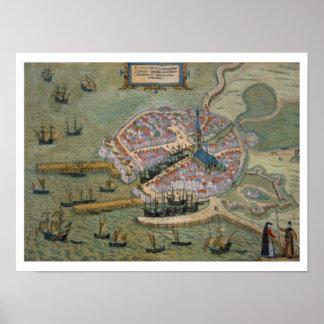 Mapa de Flissinga, de 'Civitates Orbis Terrarum Posters