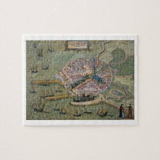 Mapa de Flissinga, de 'Civitates Orbis Terrarum Puzzles Con Fotos