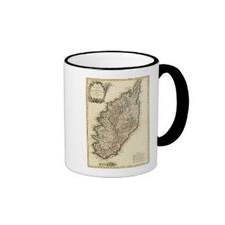 Mapa de Francia Boundries Tazas De Café