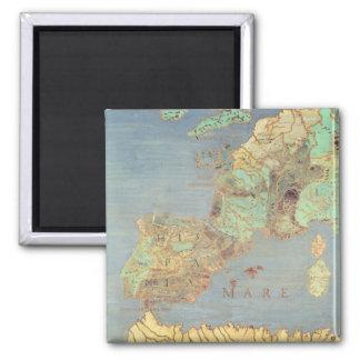 Mapa de Francia, de España y de África del noroest Imán Cuadrado