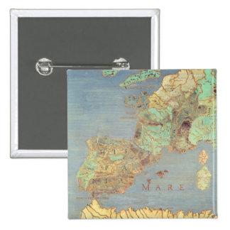 Mapa de Francia, de España y de África del noroest Pin