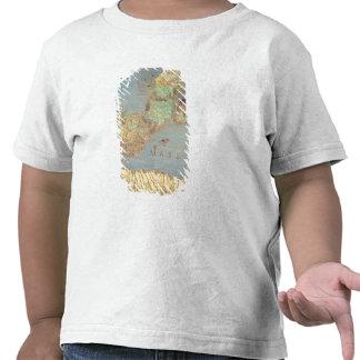Mapa de Francia, de España y de África del noroest Camisetas