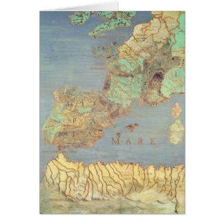 Mapa de Francia, de España y de África del noroest Felicitación