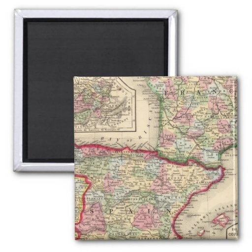 Mapa de Francia, España, Portugal de Mitchell Imán Cuadrado