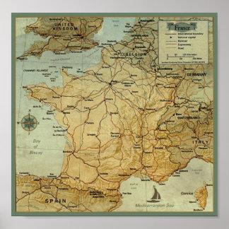 Mapa de Francia Impresiones