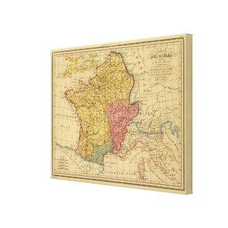 Mapa de Galia Impresion De Lienzo