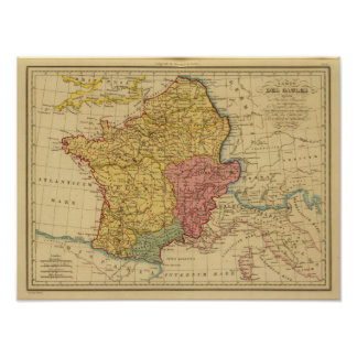 Mapa de Galia Posters