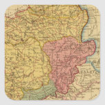 Mapa de Galia Pegatina Cuadrada