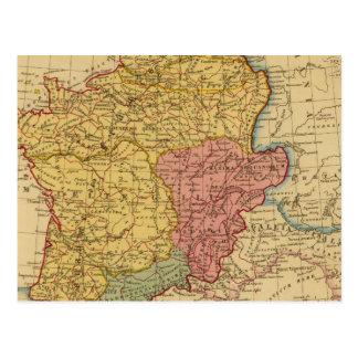 Mapa de Galia Postal
