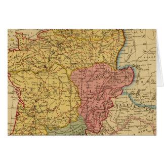 Mapa de Galia Tarjeta De Felicitación