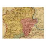 Mapa de Galia Tarjeta Postal