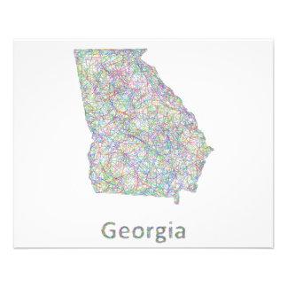"""Mapa de Georgia Folleto 4.5"""" X 5.6"""""""