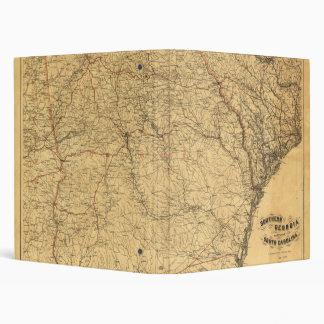 """Mapa de Georgia meridional y parte de Carolina del Carpeta 1"""""""