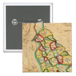 Mapa de Georgia Pin Cuadrado
