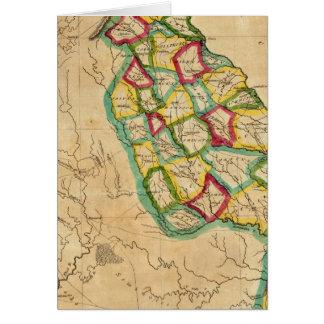 Mapa de Georgia Tarjeta De Felicitación