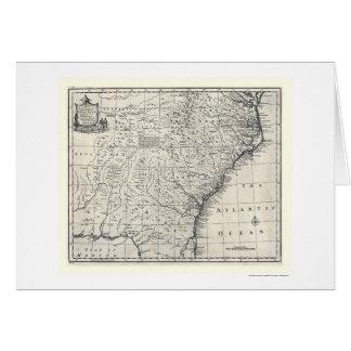 Mapa de Georgia y de Carolinas de Bowen 1752 Tarjeta De Felicitación