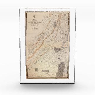 Mapa de Gettysburg y del Palacio de Justicia de