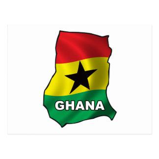 Mapa de Ghana Tarjeta Postal