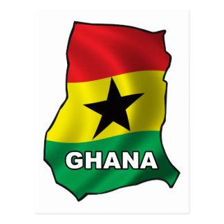 Mapa de Ghana Tarjetas Postales