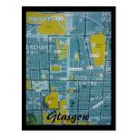 mapa de Glasgow Tarjetas Postales