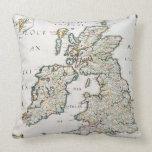 Mapa de Gran Bretaña y de Irlanda, París publicada Almohada