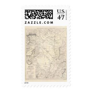 Mapa de gran Chaco y de las regiones vecinas Timbres Postales