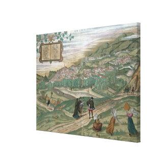 """Mapa de Granada, de """"Civitates Orbis Terrarum"""", V Impresion De Lienzo"""