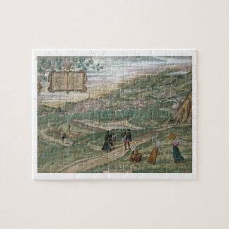 """Mapa de Granada, de """"Civitates Orbis Terrarum"""", V Rompecabezas"""