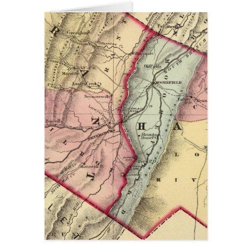 Mapa de Grant, condados resistentes Tarjeta De Felicitación