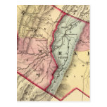 Mapa de Grant, condados resistentes Tarjeta Postal