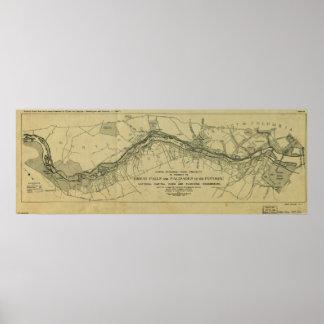 Mapa de Great Falls Park (1928) Impresiones